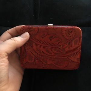 Red Leather Lodis Wallet